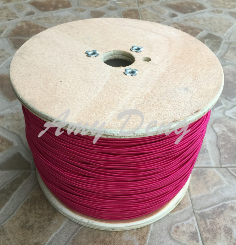 10 Meters/lot  0.04X1200 Shares High Frequency Sound Strands Rose Red Silk Cotton Litz Wire
