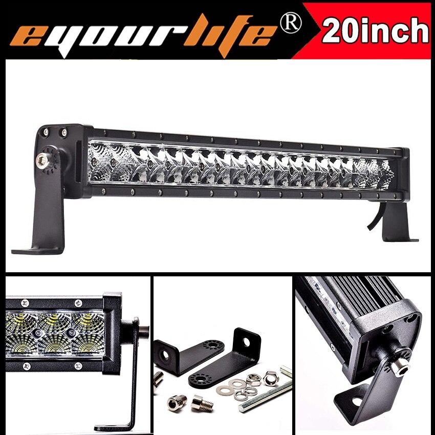 Eyourlife 20 22 inch 105w 12v led bar 24v offroad work light bar for off road