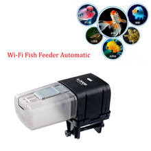 WiFi Remote Intelligente Controle Automatische Vis Feeder Aquarium Aquarium Visvoer Aquarium Voeden Machine Aquarium Feeder(China)