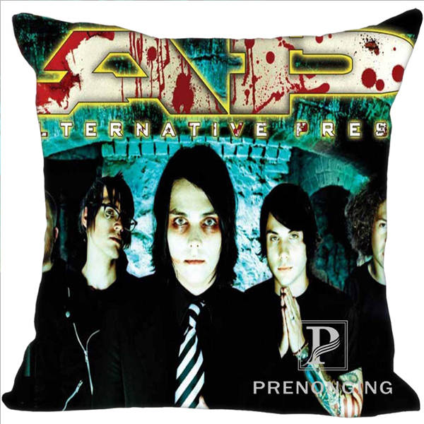 Custom Decorative Pillowcase Gerard Way Square Zippered Pillow Cover Best Gift 20X20cm,35X35cm(One Side)180117#110