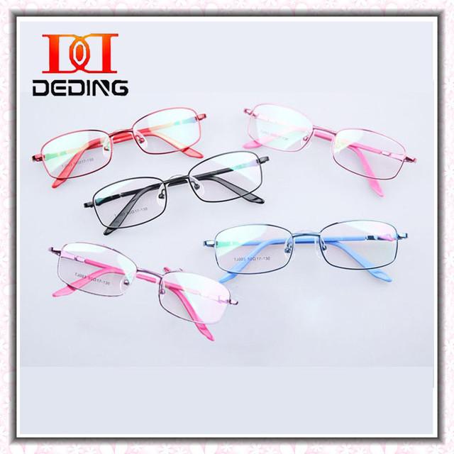 Crianças óculos de Metal óculos Infantil Ambliopia Silicone meninos meninas Miopia Ambliopia Miopia Frame ótico DD0290-1