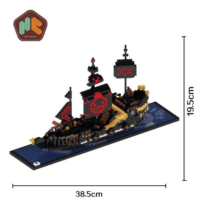 HC Mini Building Blocks the Black Pearl DIY Building Bricks Cute Cartoon Toys 3D Model Juguetes Kids Toys 9033