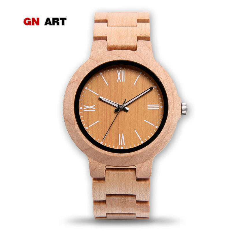 GNART M05F 2018 Custom -made wooden watch handmade for men special Watches Business merchandise watches Whole relogio masculino