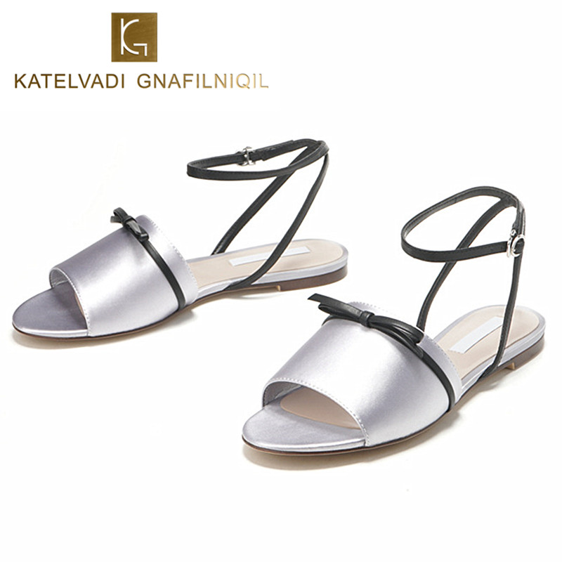 Flat Summer Shoes Women's Sandals Casual Shoes Sandals Women Peep Toe Beach Silver Ladies Shoes Women Casual Flat Sandals K-131 women s shoes 2017 summer new fashion footwear women s air network flat shoes breathable comfortable casual shoes jdt103