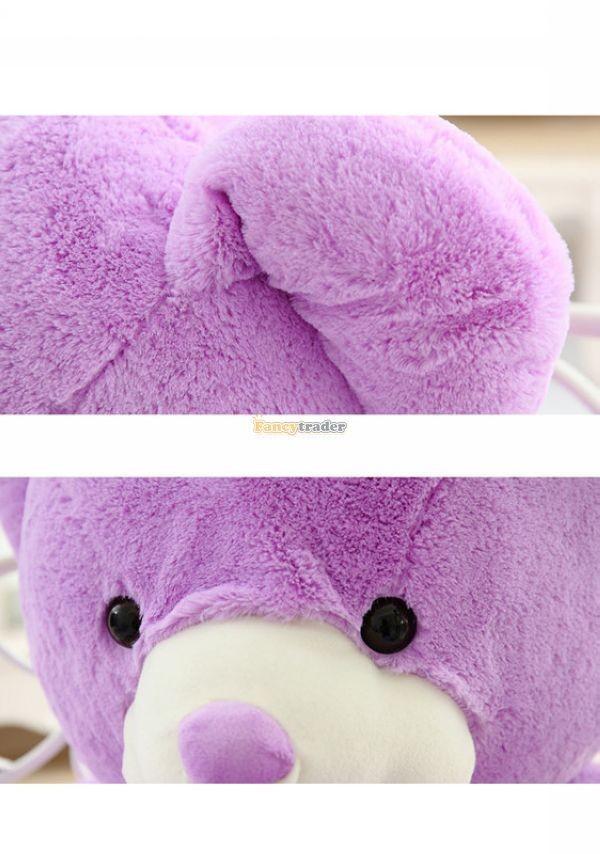 Fancytrader 1 pc 63\'\' 160cm Giant Cute Stuffed Soft Plush Lovely Fat Lavender Teddy Bear, Free Shipping FT50741 (9)