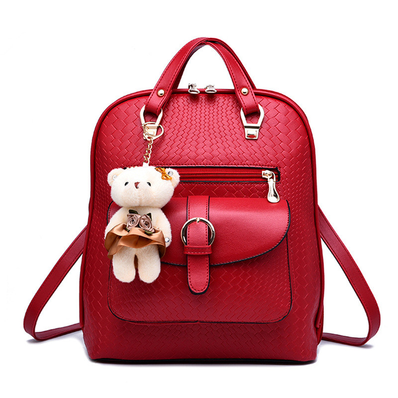 Women Backpack New Spring And Summer Students Backpack Girls Style Backpacks With Bear High Quality HY