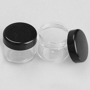 Image 5 - 10 Teile/paket Leere Kunststoff Klar Kosmetische Jar Pot Lidschatten Make Up Gesicht Creme Container Mini Box Probe Töpfe Gel Box 10/20g