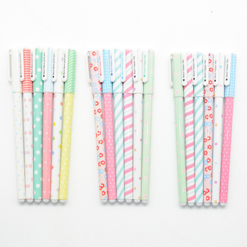6 Pcs/Set gel pen Starry sky boligrafo Kawaii stationery Floral caneta cute kalem kawaii pens canetas lapiceros