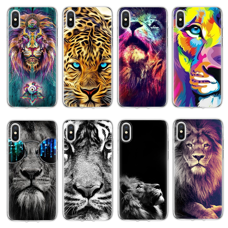 3a768420caf For iPhone X case For Soft iPhone 4 4S 5 5S 5C SE Fundas For iPhone 7 7Plus  8 8Plus 6 6S Plus Tiger For iPhone 7 Plus TPU case