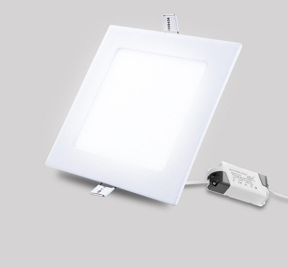 25W Square LED Panel Light Recessed Kitchen Bathroom Ceiling Lamp AC85-265V LED Downlight Warm WhiteCool White Free shipping (21)