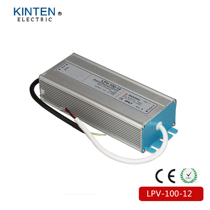 LPV-100-12 Series DC24V Waterproof 220VAC Input  LED Switch Power Supply Output 100W for led light meanwell 24v 60w ul certificated lpv series ip67 waterproof power supply 90 264v ac to 24v dc