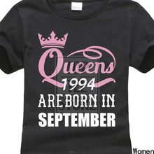 T Shirts Queens Are Born In October 1996 Funny 21St Birthday Gift Middle Aged WomanS Design
