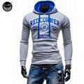2017 Hoodies Men Sudaderas Hombre Hip Hop Mens Brand Decorative Pocket Hoodie Sweatshirt   Suit Slim Fit Men Hoody XXL SOK