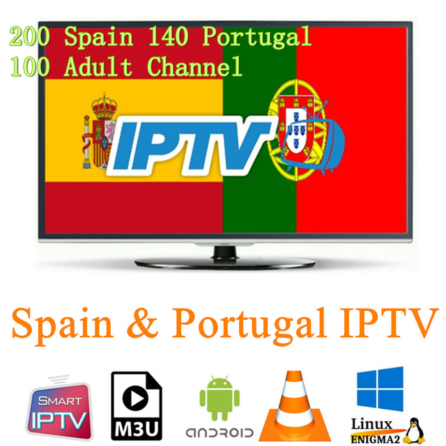 Best Spain Portugal IPTV Subscription 200 Spanish 140 Portugal Live with Adult and Evelen Sport for Android Smart TV M3u Enigma2