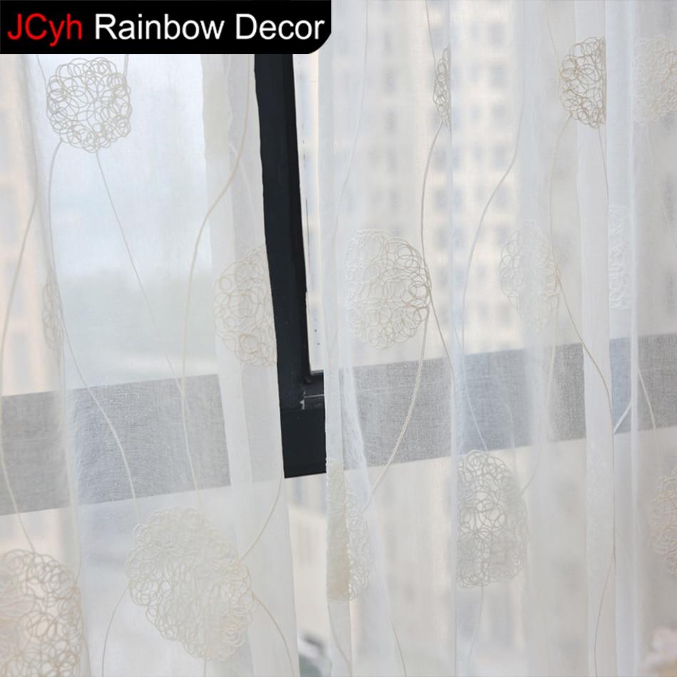 Weiß Sheer Vorhänge Für Wohnzimmer Moderne Elegante Vorhangstoff Decor  Feste Weiße Tür Fenster Tüll Vorhang Schlafzimmer Vorhänge