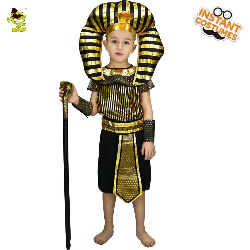 New Kids Egyptian Priest Costumes Boys Honor Egypt Leader Fancy Dress for Children Halloween Costumes