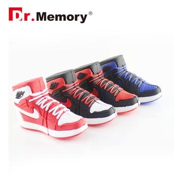 Dr. Memory USB Flash Drive Creative Silicone Basketball Shoes Usb Stick Mini Memoria Pendrive Disk 4GB 8GB 16GB 32GB 64GB Gift