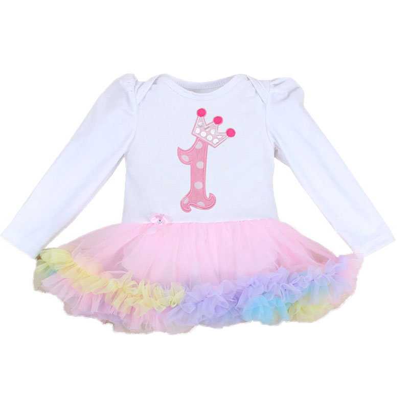 Newest Cute Baby Toddler Girl Princess Romper Set Ruffle Tutu Dresses Party Costume Bebe Newborn Birthday Outfit for 0-2 years birthday pink tutu dresses 1st newborns baby girl romper tutu dress set toddler infantil roupas de bebe baby clothes nb 24 month