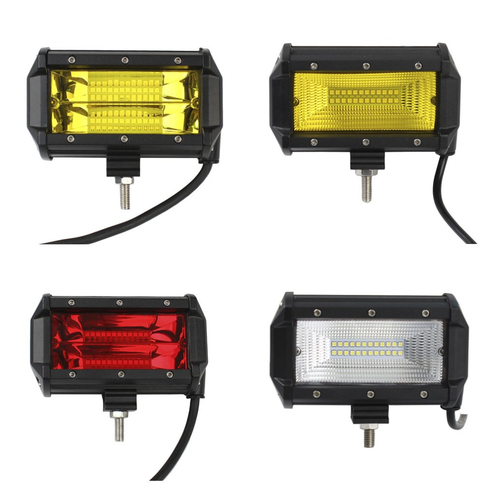 Newest 72W Two Rows LED Light Bar Work Light Spot Flood 6000K Off-road Car Work Lights For Cross Country Truck Hot Selling