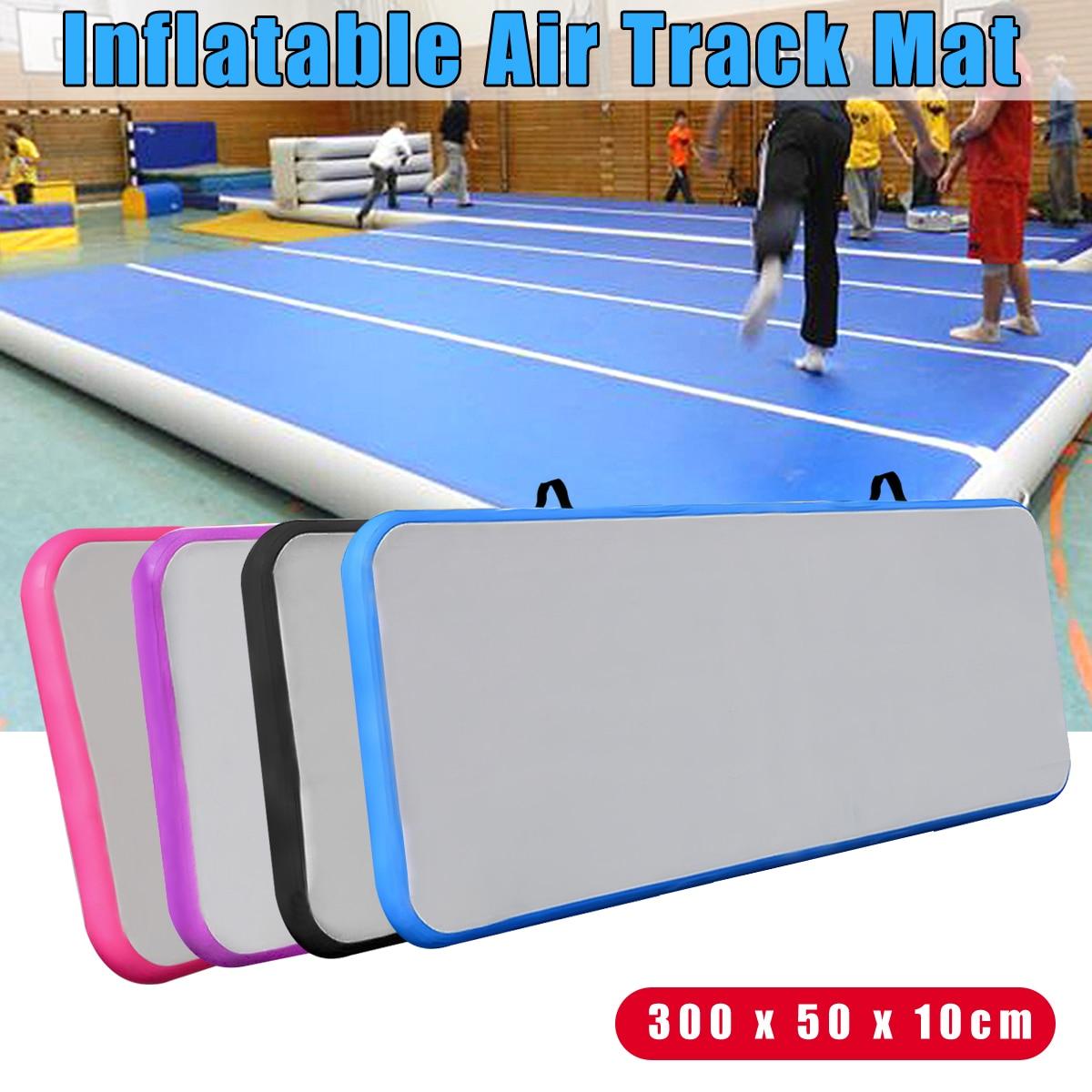 118x19x3.93 pouce Extérieur de Voie D'air Gonflable De Tapis De Yoga De Gymnastique Pratique De Gymnastique Au Sol Coussin Rose/ noir/Violet/Bleu
