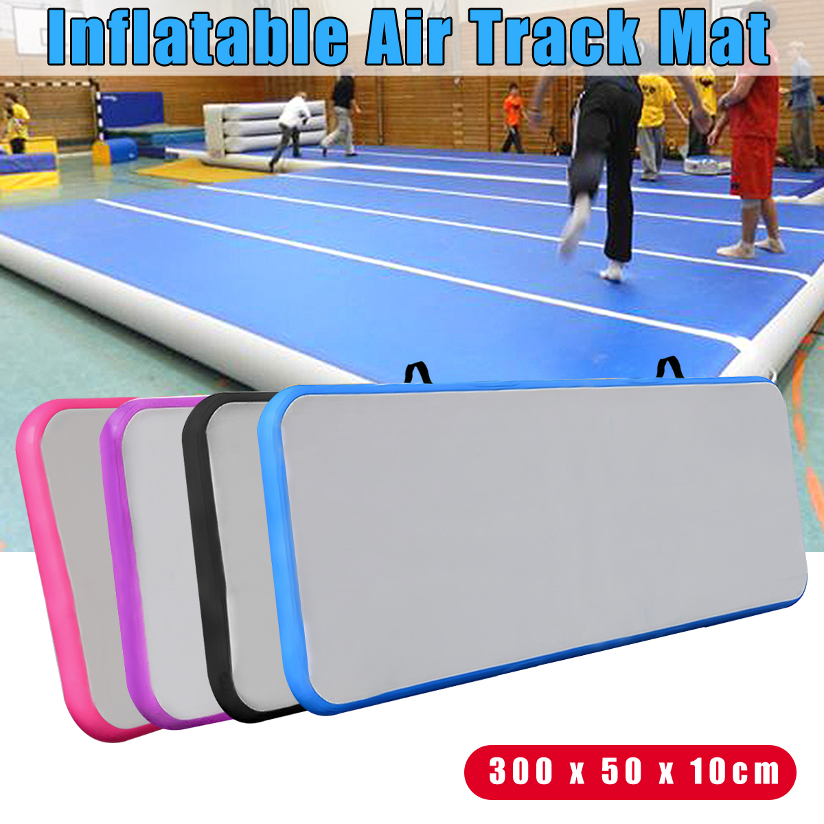 Yard 200*80*10cm Inflatable Mat Air Track Home Outdoor Indoor Gymnastics Tumbling Mat Inflatable Air Tumbling Track For Gym Kids Inflatable Bouncers
