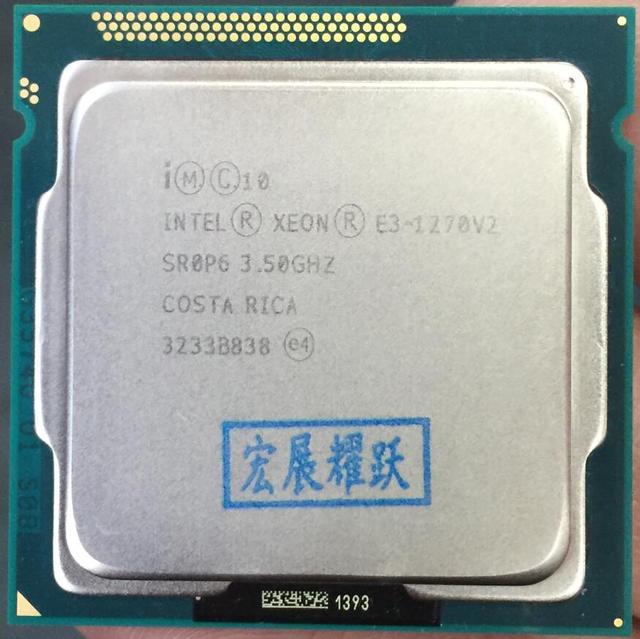 Intel  Xeon  Processor E3-1270 V2   E3 1270 V2  Quad-Core   Processor   LGA1155 Desktop CPU