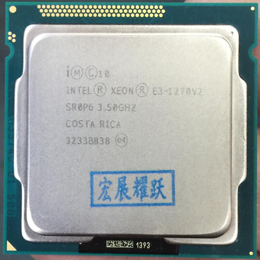 Processador Intel Xeon E3-1270 V2 E3 1270 LGA1155 V2 Processador Quad-Core de Desktop CPU