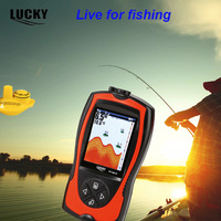 FF1108 1CW LUCKY Wireless Sensor Fish Finder Monitor Sonar Sensor Rechargeable With Fish Glove Men Two