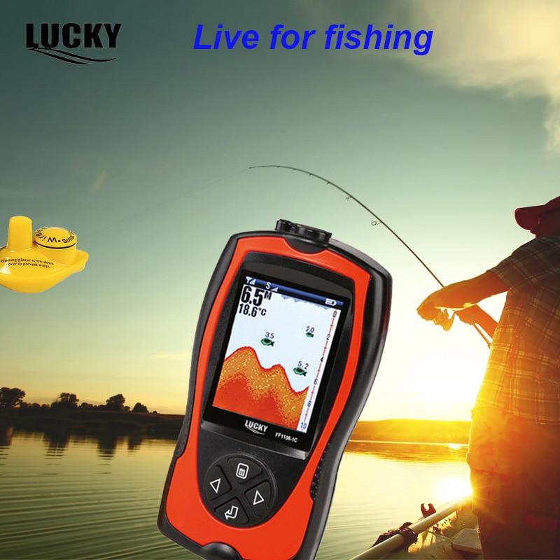 Lucky FF1108-1CW беспроводной датчик эхолот монитор 147ft 45 м Глубина Sonar перезаряжаемые Рыбалка эхолот инструменты # D5