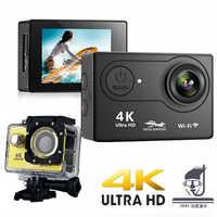 """2019 100% nouvelle caméra d'action H9 Ultra HD 4 K/25fps WiFi 2.0 """"170D sous-marine étanche casque caméras d'enregistrement vidéo Sport Cam"""