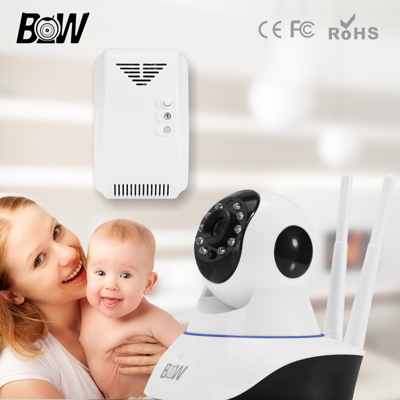 ФОТО Wireless Security Camera WiFi Two Way Audio Network Baby Monitor HD CCTV Camera 720P Indoor Home Surveillance Cam + Gas Detector