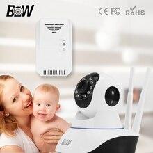 Wireless Security Camera WiFi Two Way Audio Network Baby Monitor HD CCTV Camera 720P Indoor Home Surveillance Cam + Gas Detector