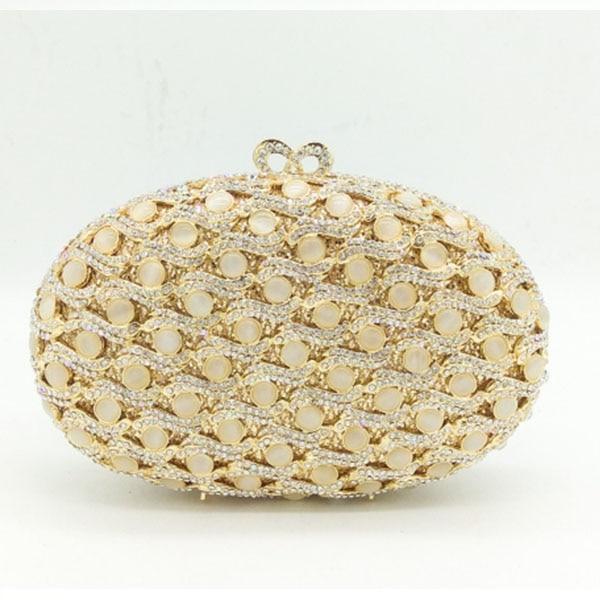 Luxury Crystal Evening Box Clutch Bag With Chain gold  Women Evening Bag Diamond Wedding Bridal Party Purse Pochette purse box clutch purse