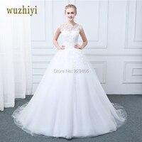 Vestido De Noiva Manga Longa A Line Long Sleeve Wedding Dress Bridal Gown Lace Appliqued Vintage
