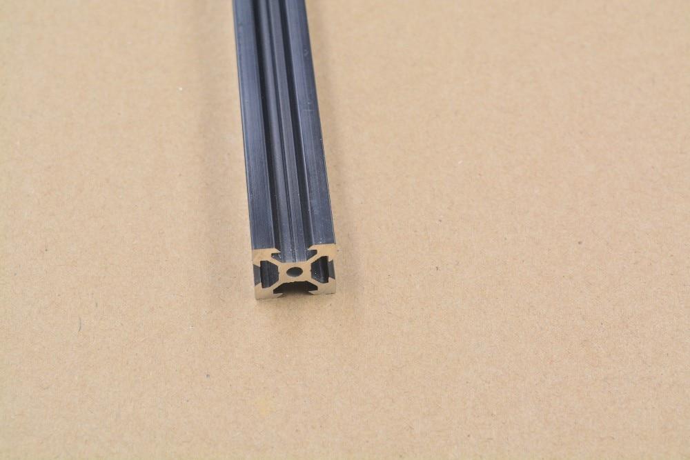 2020 Aluminum Extrusion Profile European Standard  V-slot Black Length 350mm   Workbench 1pcs
