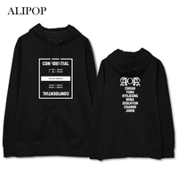 ALIPOP Kpop AOA ACE OF ANGELS Album Hoodie Casual Cotton Hoodies With Hat Clothes Pullover Printed