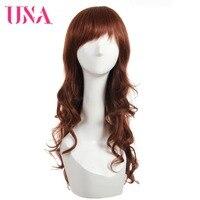 UNA вьющиеся волосы человека парик свободная волна бразильских волос Non Синтетические волосы на кружеве человеческих волос Парики бразильск