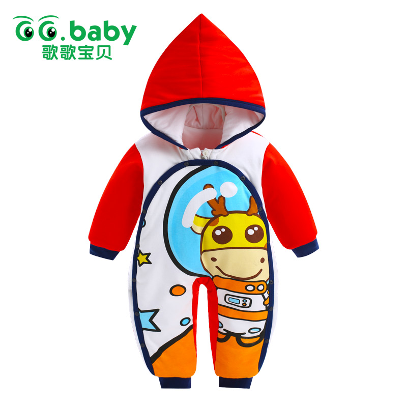 Newborn Rompers Baby Boy Romper Winter Long Sleeve Cotton Clothing Toddler Baby Clothes Jumpsuit Warm Cartoon Baby Boys Pajamas baby overalls long sleeve rompers clothing cotton dog anima 2017 new autumn winter newborn girl boy jumpsuit hat indoor clothes