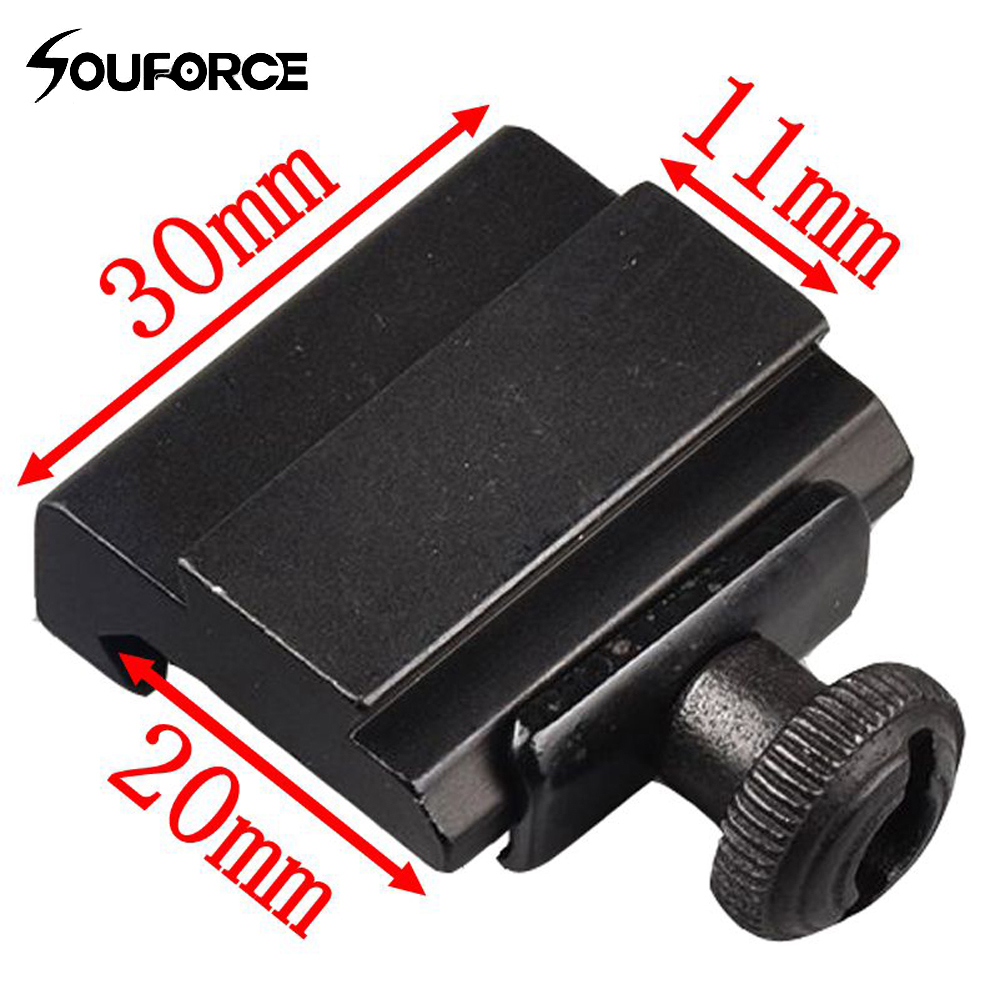 2pcs 20mm To 11mm Weaver Dovetail Adapter To Picatinny Rail Rifle Scope Mount Hunting Free Shipping