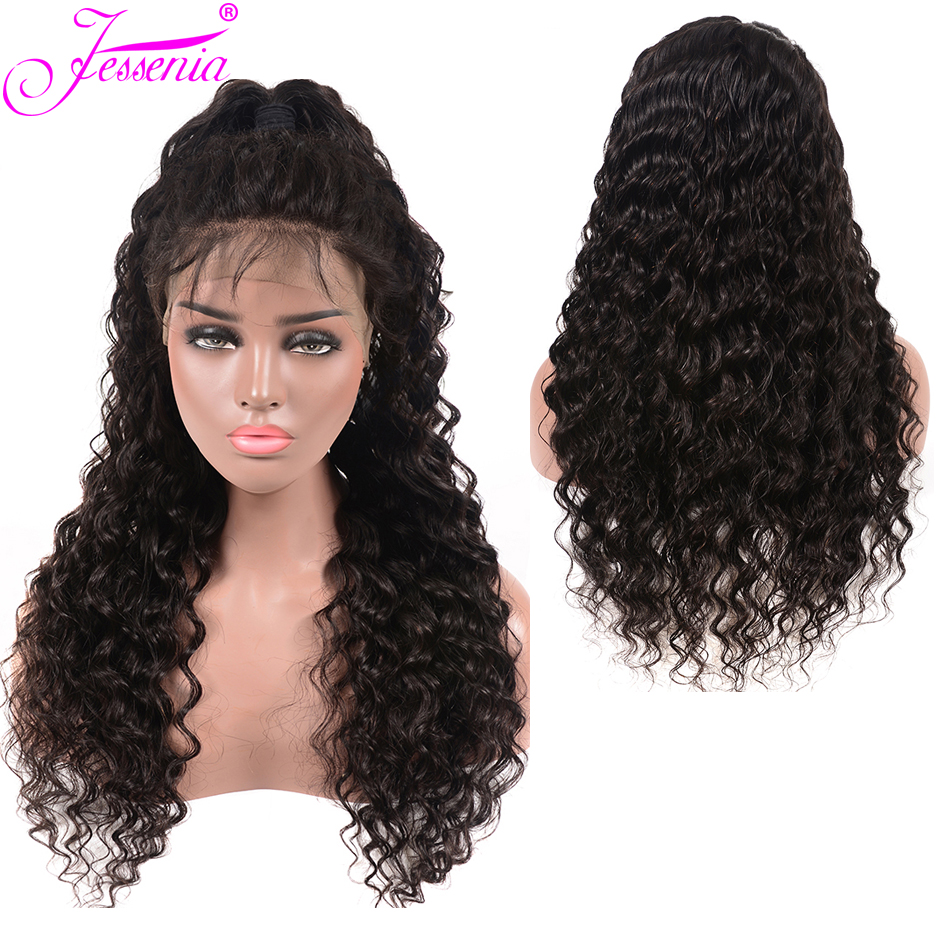 Peruvian Deep Wave 13*4 Lace Wigs Pre Plucked Human Hair 150% density Remy With Baby