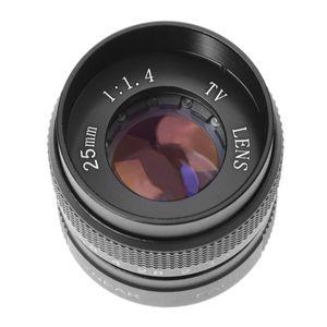 Image 2 - HFES 텔레비전 TV TV/CCTV/시네마 C 마운트 카메라 용 C Moun 렌즈의 25mm f/1.4 렌즈 F1.4 검정색