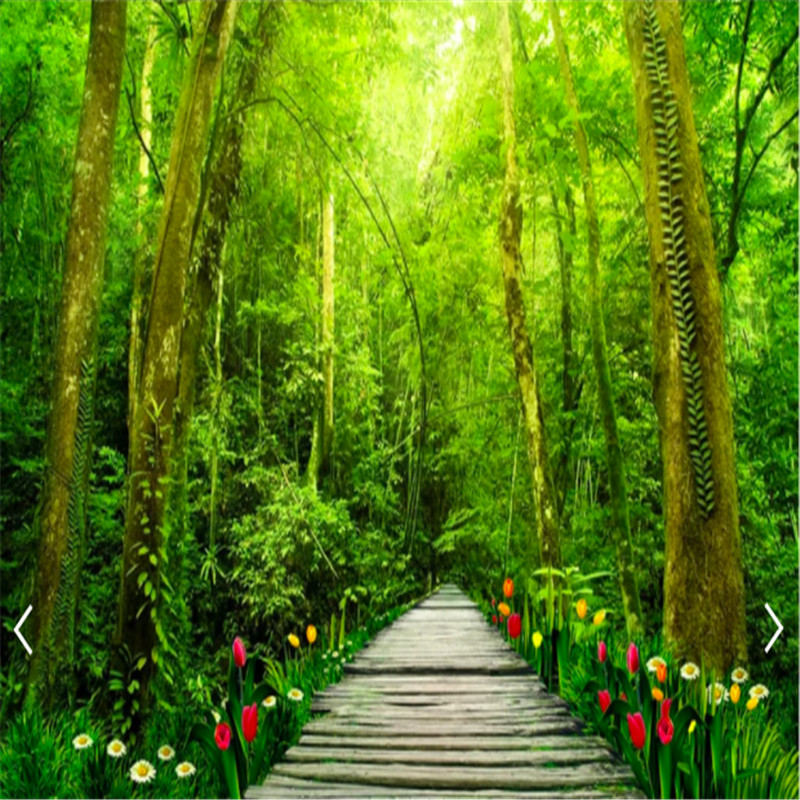US $13 75 45% OFF|Customized 3d nature forest wallpaper natural scenery  wallpaper for living room bedroom 3d photo wallpaper nature 3d wallpaper-in