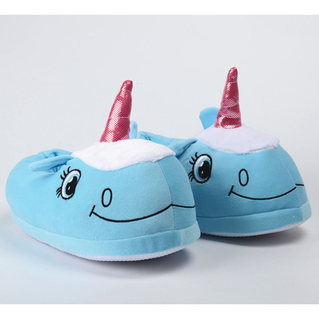7 Styles Lovely Easter Gifts Winter Thick Indoor Home Slippers Plush Couple Shoes Cartoon Unisex Unicorn Slippers for Women