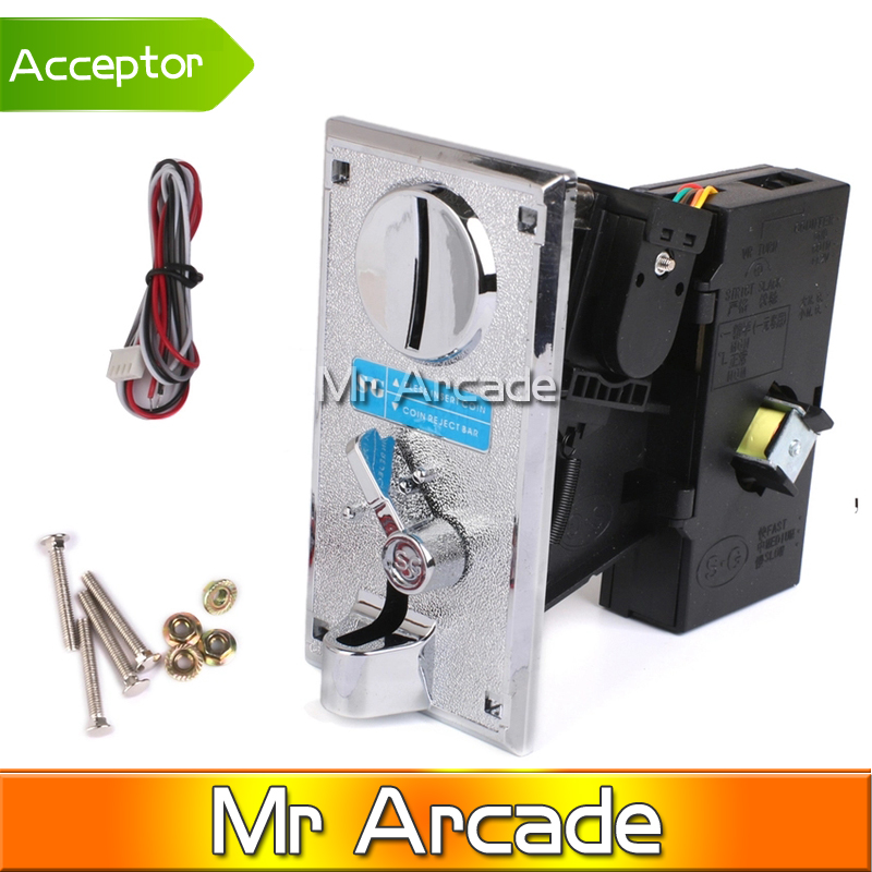 Plastic panel Advanced Front Entry CPU Coin Selector coin Acceptor for Vending machines Arcade RIS machines Alloy Electronic