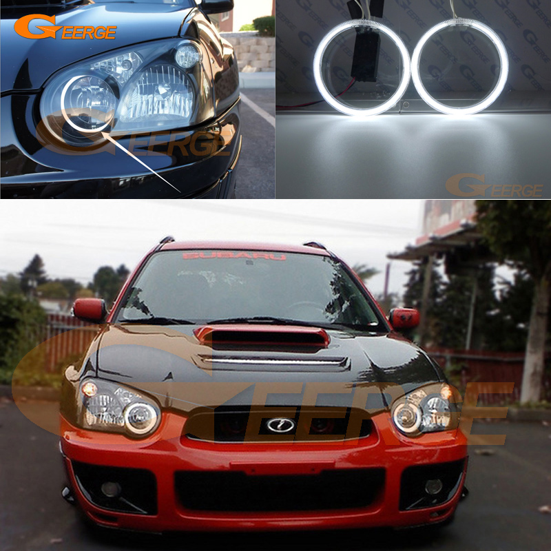 For Subaru Impreza 2004 2005 Excellent Angel Eyes Ultra bright headlight illumination CCFL Angel Eyes kit Halo Ring for alfa romeo 147 2000 2001 2002 2003 2004 halogen headlight excellent ultra bright illumination ccfl angel eyes kit halo ring
