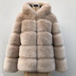 Image 3 - ZADORIN 2020 Winter Thick Warm Faux Fur Coat Women Plus Size Hooded Long Sleeve Faux Fur Jacket Luxury Winter Fur Coats bontjas
