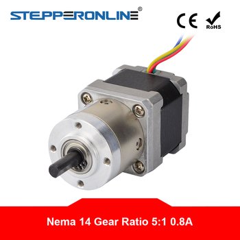 5:1 Planetary Gearbox Nema 14 Stepper Motor 0.8A for DIY CNC Robot 3D Printer image
