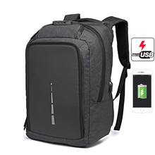 OZUKO Backpack Men Anti Theft 17 Inch Laptop USB Lock Design Computer Bag Travel bag Waterproof for Women