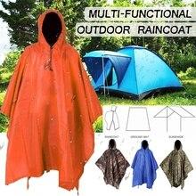 Многофункциональный Камуфляжный дождевик, военная непромокаемая Водонепроницаемая дождевик для мужчин и женщин, для кемпинга, рыбалки, мотоцикла, дождевик