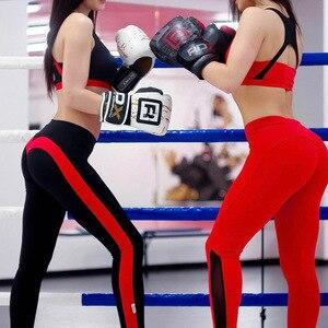 Image 4 - אופנה לב חותלות נשים לדחוף את טלאי צועד כושר בגדי נשים מכנסיים Slim פוליאסטר jeggings